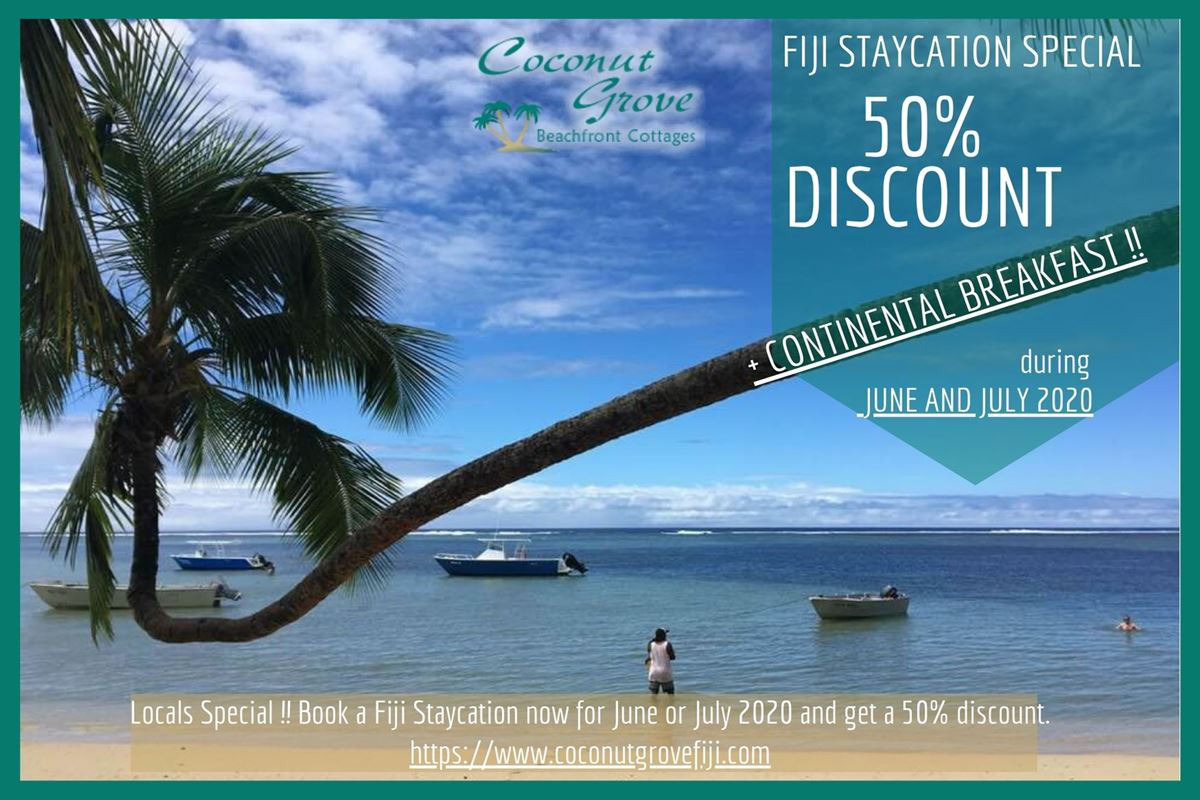 2020 Fiji Vacation Specials at Coconut Grove, Taveuni