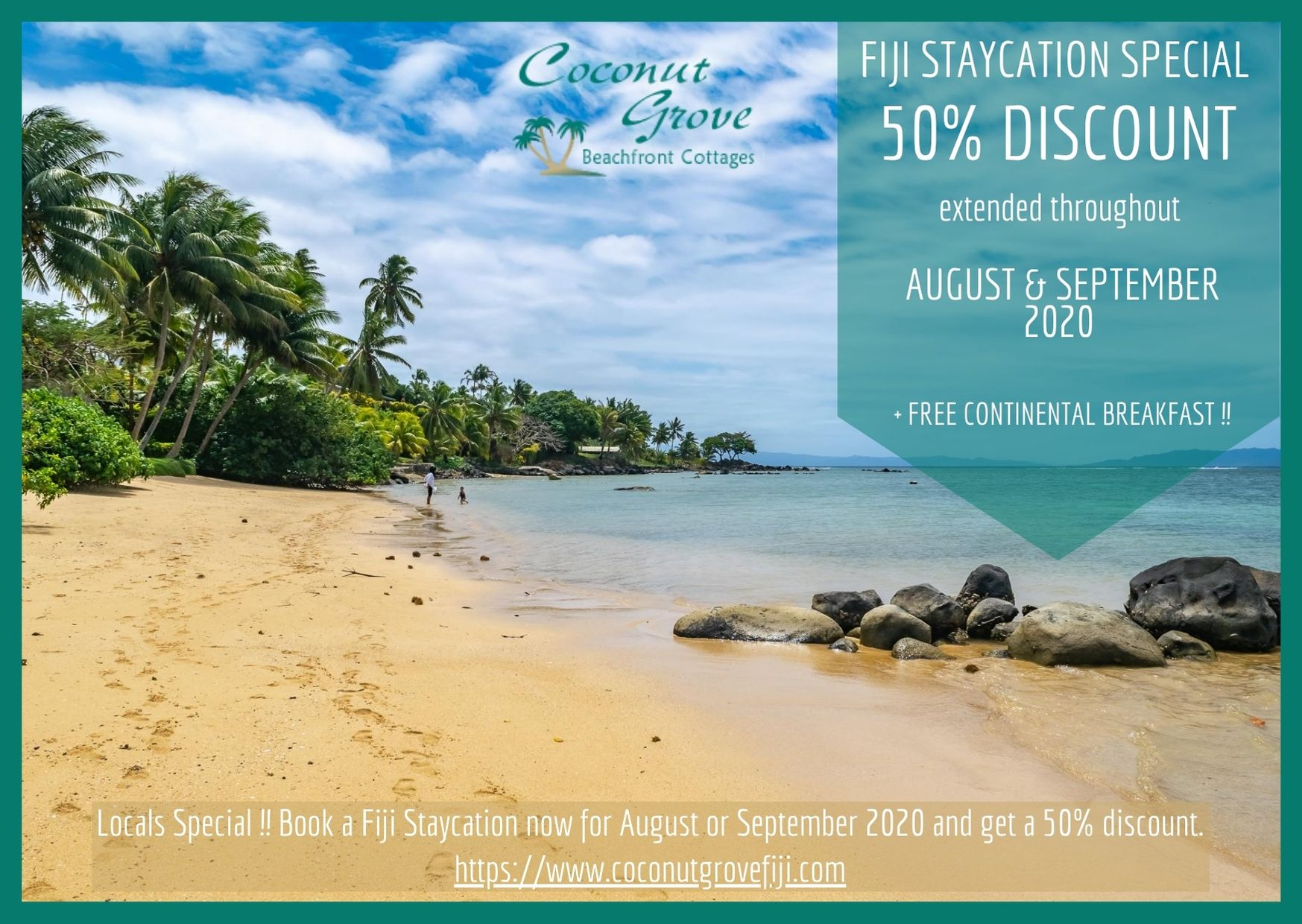 2020 Fiji Vacation Specials at Coconut Grove Taveuni August September
